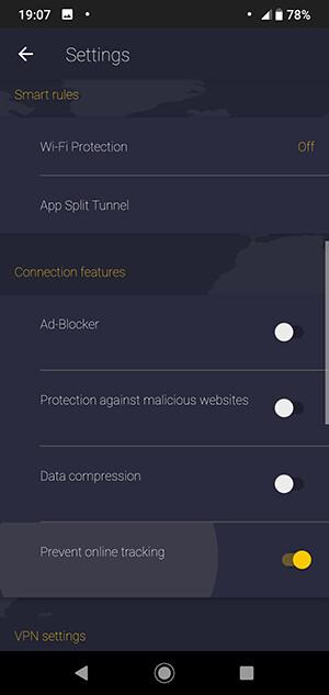 CyberGhost VPN Android instellingen