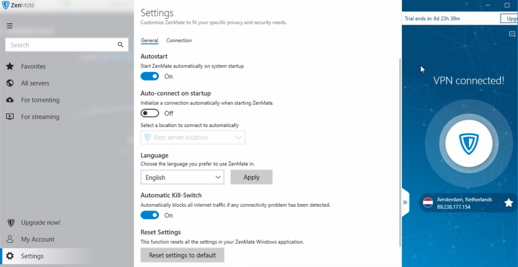Zenmate VPN Windows instellingen