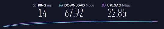 Speedtest met Zenmate VPN (NL) server