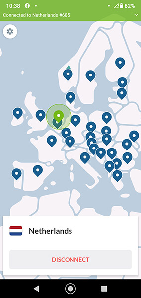 NordVPN Android-app