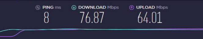 Speedtest met PIA Nederlandse server