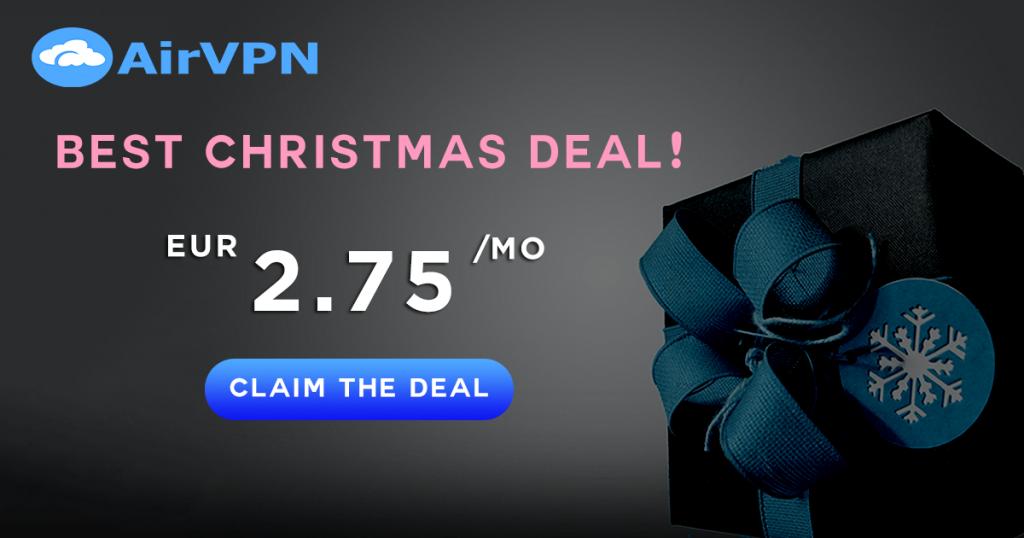 AirVPN Christmas deal