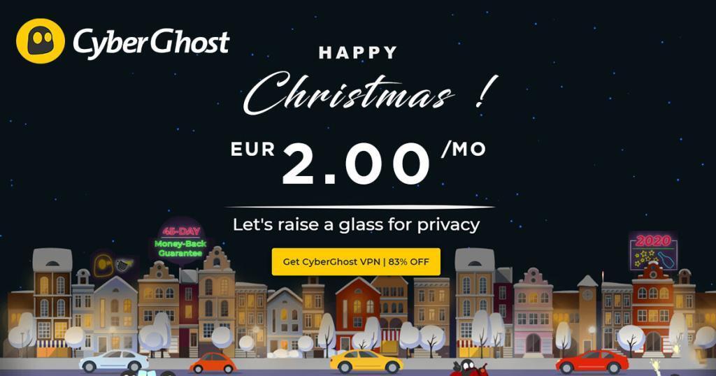 CyberGhost 3-jarig abonnement voor € 2.00 per maand