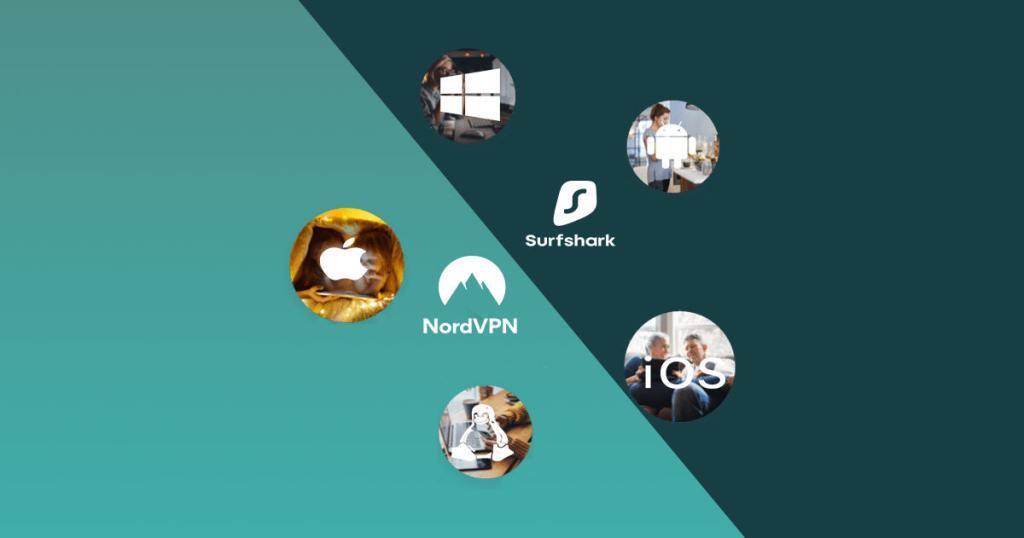 Surfshark vs NordVPN apparaten