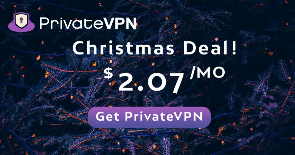 PrivateVPN Christmas deal 2020