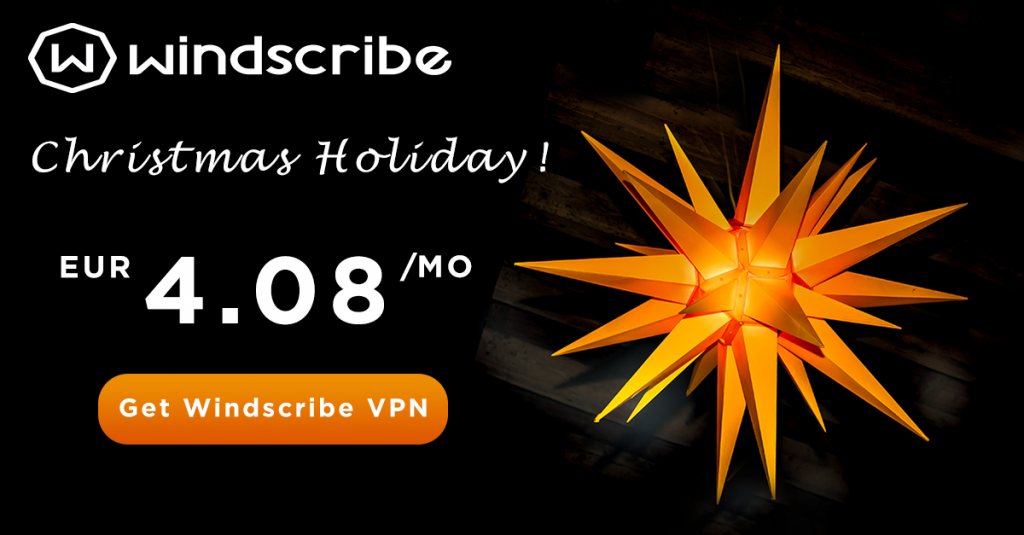 Windscribe VPN Christmas deals