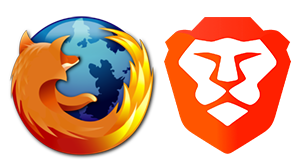 Firefox & Brave logo's