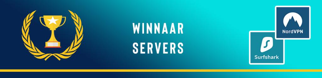 NordVPN vs Surfshark - Aantal servers