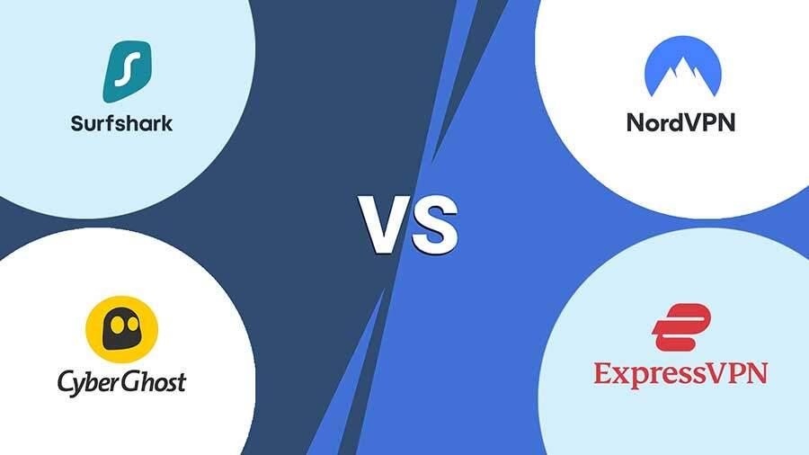 NordVPN vs ExpressVPN vs Surfshark vs CyberGhost